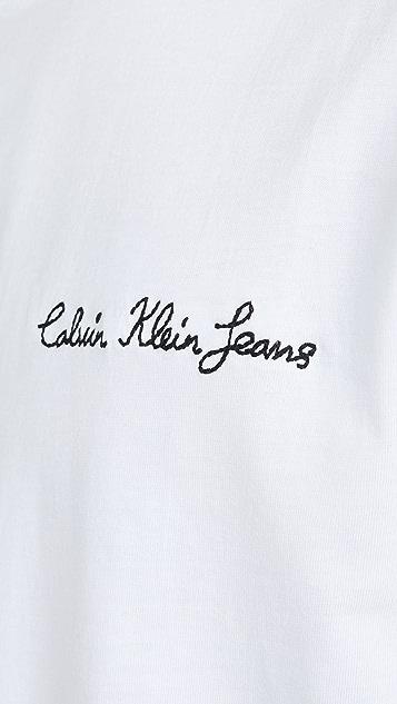 Calvin Klein Jeans Chainstitch Logo Tee