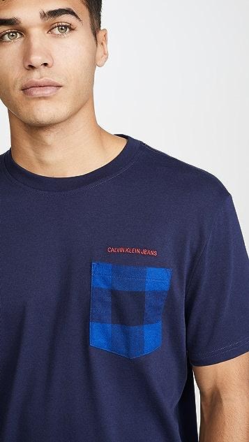 Calvin Klein Jeans Buffalo Pocket Crew Neck Tee