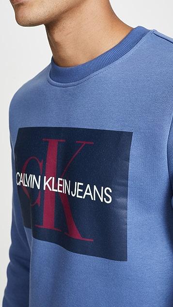 Calvin Klein Jeans EDI Box Monogram Crew Neck Sweatshirt