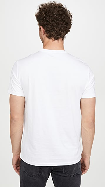 Calvin Klein Jeans Monogram Pinstripe Crew Neck Tee