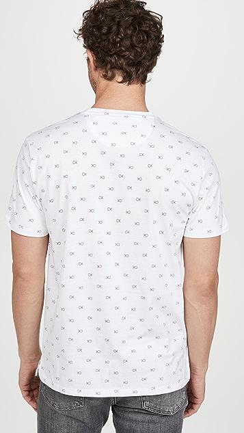 Calvin Klein Jeans Short Sleeve Liquid Print Crew Neck Tee