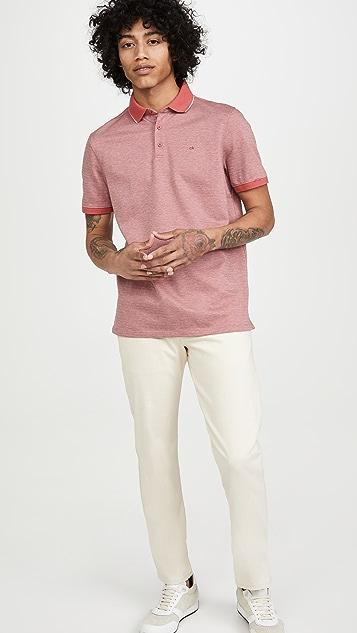 Calvin Klein Jeans Liquid Herringbone Polo Shirt