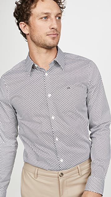 Calvin Klein Jeans Long Sleeve Geo Print Shirt
