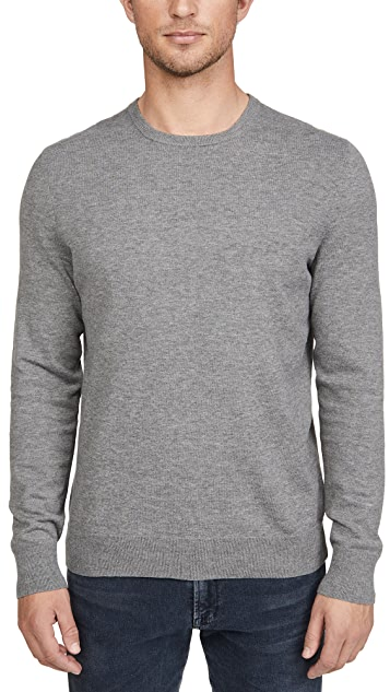 Calvin Klein Jeans Long Sleeve Solid Liquid Crew Neck Sweater