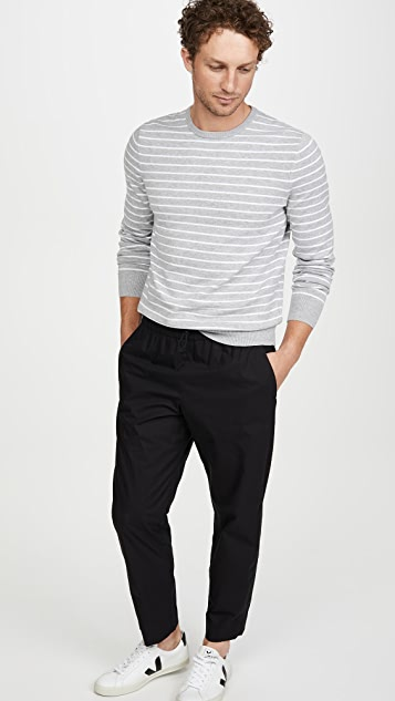 Calvin Klein Jeans Long Sleeve Stripe Liquid Crew Neck Sweater