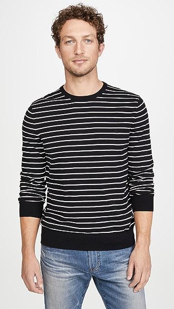 Calvin Klein Jeans Long Sleeve Solid Liquid Crew Neck Sweater