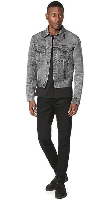 Calvin Klein Collection London Denim Jacquard Jacket