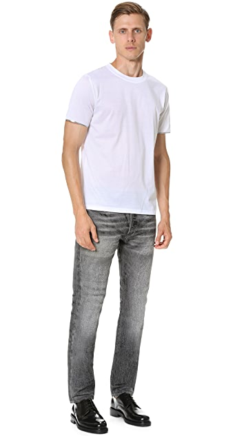 Calvin Klein Collection Nasan Mercerized Metallic Detail Tee