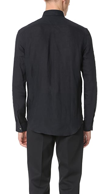 Calvin Klein Collection Rectangle Luxe Linen Shirt
