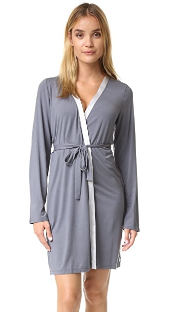 Calvin Klein Underwear Essentials with Satin Short Robe