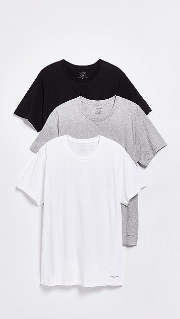 Calvin Klein Underwear 3 Pack Regular Fit Classic Short Sleeve Tee