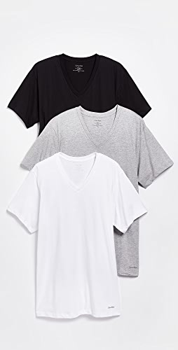 Calvin Klein Underwear - 3 Pack Classic Regular Fit V-Neck Tee