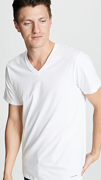 Calvin Klein Underwear 3 Pack Classic Regular Fit V-Neck Tee