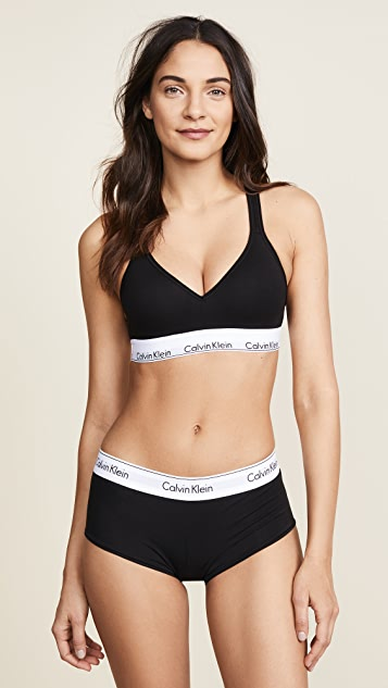 696139fc56 Calvin Klein Underwear Modern Cotton Lightly Lined Bralette ...
