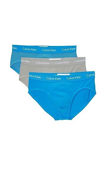 Calvin Klein Underwear 3 Pack Cotton Stretch Hip Briefs