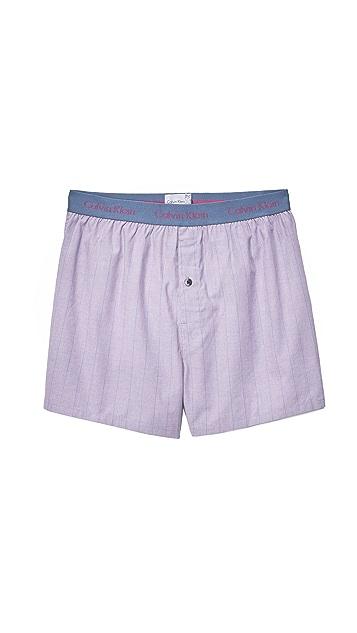 Calvin Klein Underwear Slim Fit Woven Boxers
