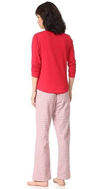 Calvin Klein Underwear Flannel Pajamas Gift Set