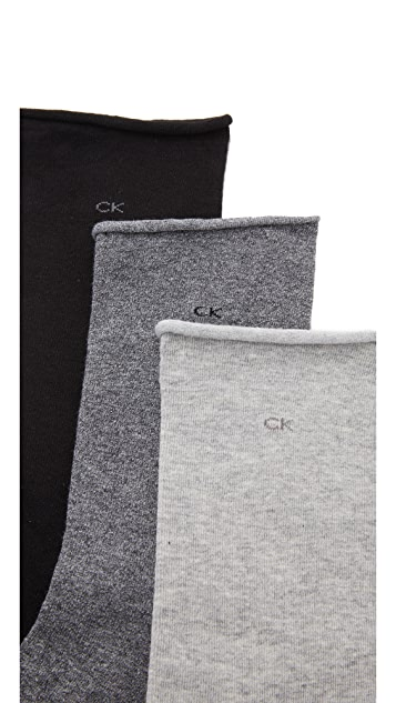 Calvin Klein Underwear Roll Top Sock Three Pack