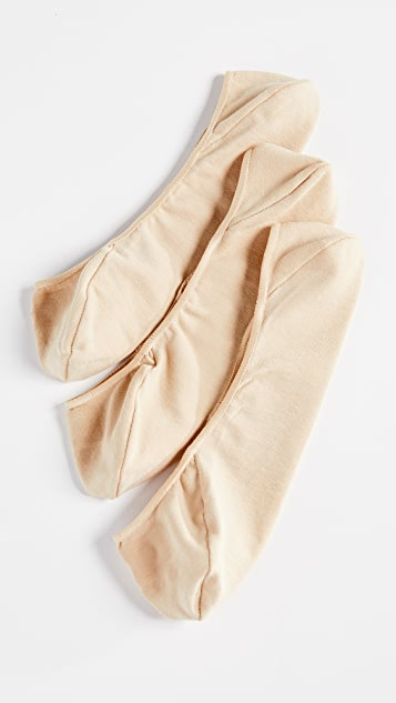 Calvin Klein Underwear No Show Socks Three Pack
