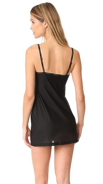 Calvin Klein Underwear Sheer Marq V Neck Chemise