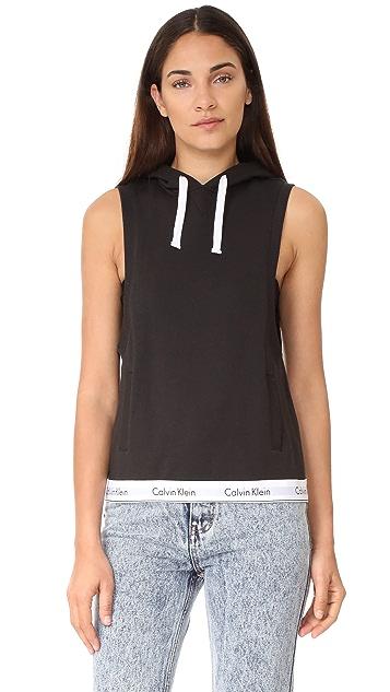 Calvin Klein Underwear Modern Cotton Sleeveless Hoodie
