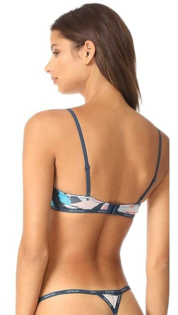 Calvin Klein Underwear CK ID Sheer Marq Lace Triangle Bralette