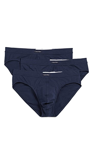 Calvin Klein Underwear 3 Pack Cotton Stretch Bikini Briefs