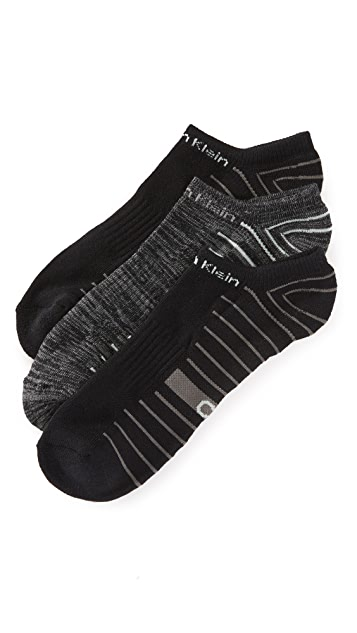 Calvin Klein Underwear 3 Pack Coolpass Low Cut Socks