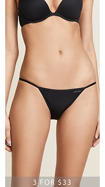 Calvin Klein Underwear Sleek String Bikini Panties