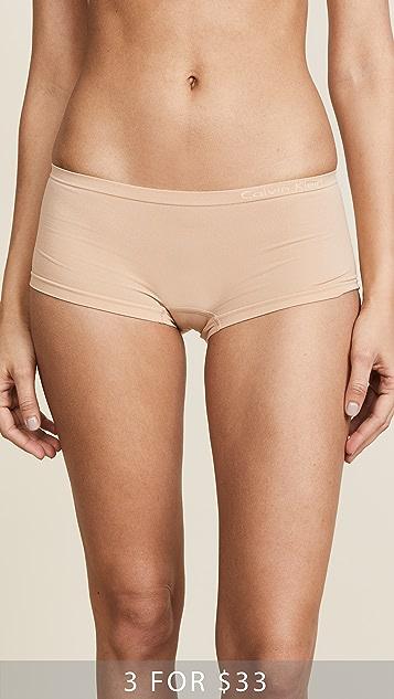 Calvin Klein Underwear Pure Seamless Boy Shorts - Bare