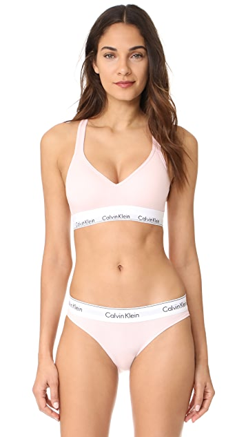 0a5f68a59c Calvin Klein Underwear Modern Cotton Lightly Lined Bralette ...
