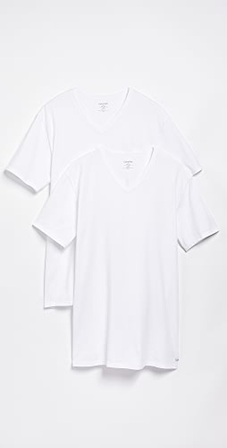 Calvin Klein Underwear - 2 Pack Cotton Stretch V Neck Tee