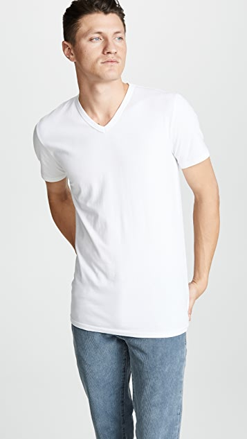 Calvin Klein Underwear 2 Pack Cotton Stretch V Neck Tee