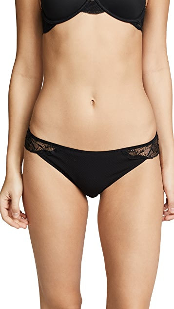 Calvin Klein Underwear Black Rose Lace Tanga Briefs