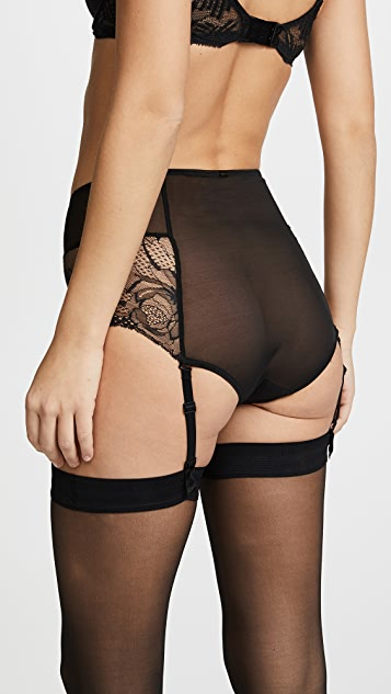 Calvin Klein Underwear Black Rose Lace High Waist Hipster Briefs