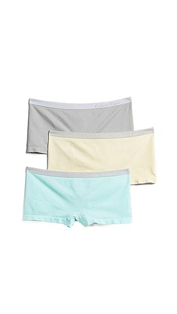 Calvin Klein Underwear Pure Seamless Boyshort 3 Pack
