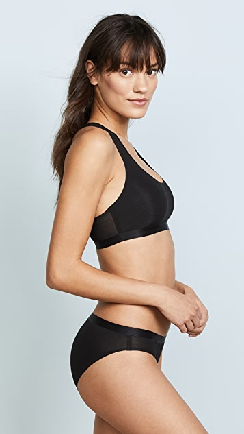Calvin Klein Underwear Black Structure Cotton Unlined Bralette