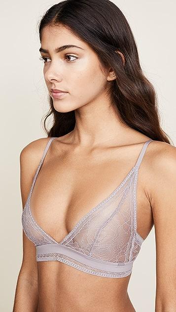 2696d84a76 ... Calvin Klein Underwear Black Obsess Unlined Triangle Bra ...