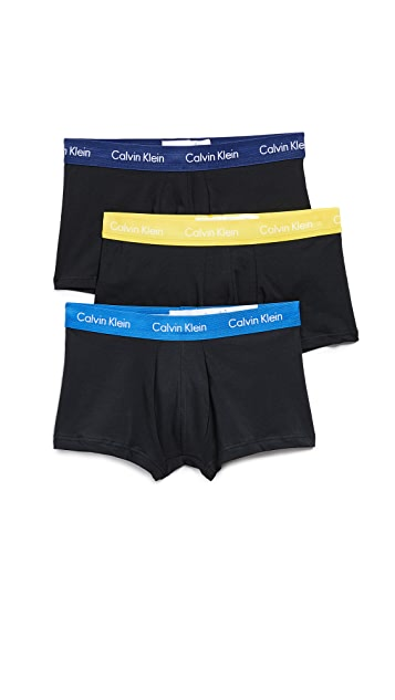 Calvin Klein Underwear Cotton Stretch Low Rise Trunks