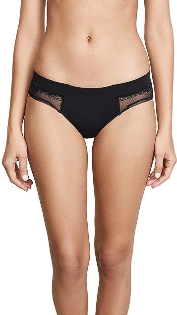 Calvin Klein Underwear CK Black Garden Stripe Lace Thong