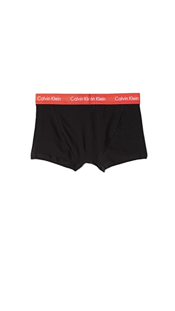Calvin Klein Underwear 3 Pack of Cotton Stretch Trunks