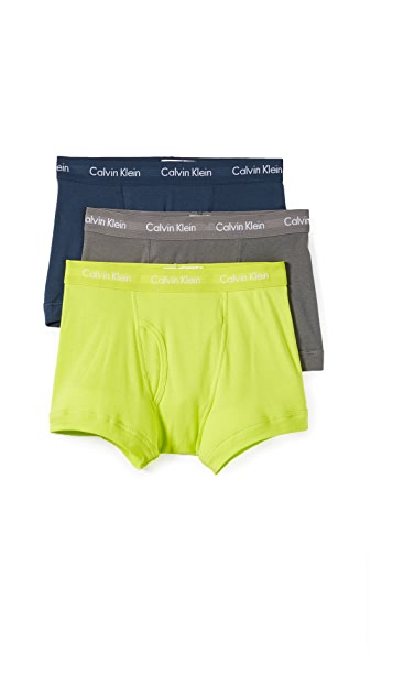 Calvin Klein Underwear 3 Pack of Cotton Classic Trunks