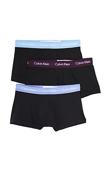 Calvin Klein Underwear 3 Pack Cotton Stretch Trunks