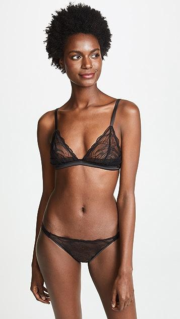 Calvin Klein Underwear Black Vast Floral Lace Triangle Bra