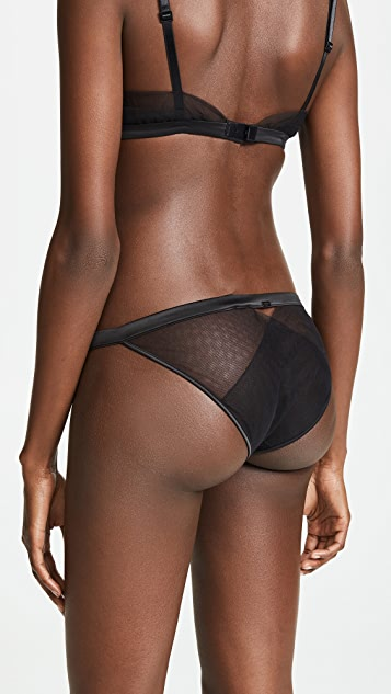 Calvin Klein Underwear Black Vast Floral Lace String Panties