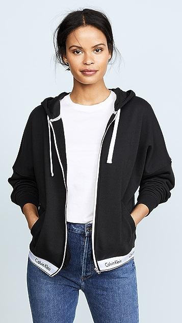95304ee783bc Calvin Klein Underwear Full Zip Hoodie