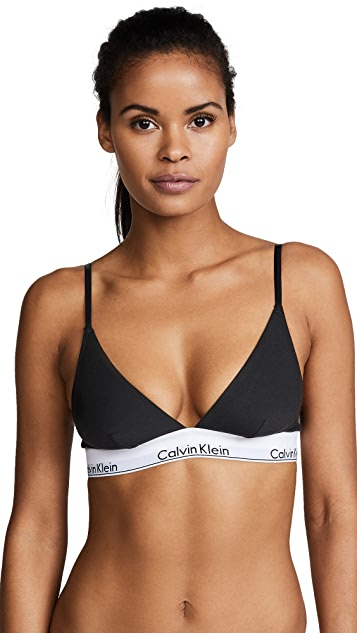 Calvin Klein Underwear Современный хлопковый бюстгальтер с треугольными чашечками