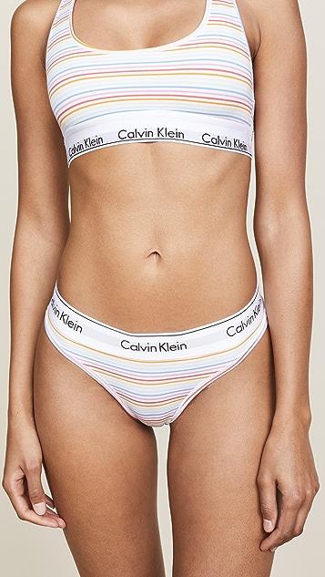 Calvin Klein Underwear Prism Stripe Thong