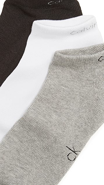 Calvin Klein Underwear 3 Pack Athletic Liner Socks