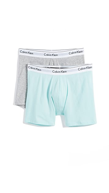 Calvin Klein Underwear Modern Cotton Stretch 2 Pack Boxer Briefs
